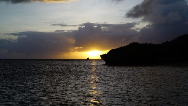 宮古島 夕方のマボロシビーチ