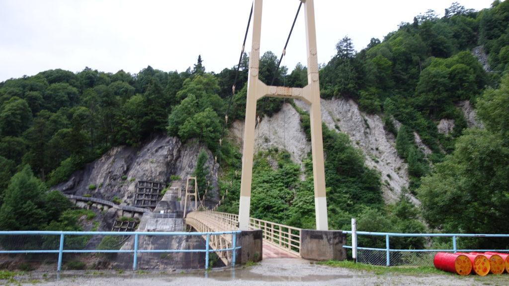 北アルプス 黒部の吊り橋