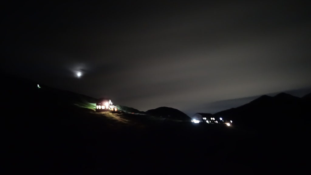 雷鳥沢キャンプ場の夜