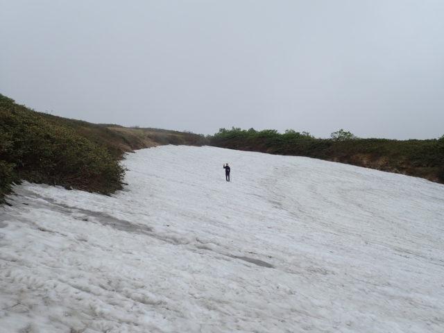 飯豊山_雪渓
